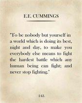 Page de livre classique, E.E, Cummings, citation de E.E. Cummings, page de livre vintage, livre Art, livre Art Print, cadeau pour amoureux des livres   – Quotes for the board!