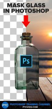 Die BESTE ART, GLAS (oder transparente Objekte) in Photoshop auszuwählen und zu maskieren!