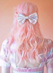 Cream Unicorn Bow Cute Kawaii Unicorn Hair Bow in by beauxoxo