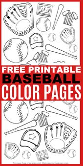 Baseball Color Pages – Life is Sweeter By Design