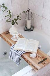 DIY: Badewannenablage aus Holz selber machen