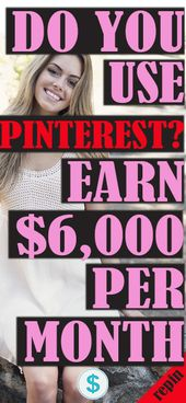 DO YOU KNOW HOW TO USE PINTEREST? IF YOU DO YOU CAN ALSO MAKE $1,000s PER MONTH WITH IT!