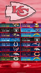 Kansas City Chiefs 2019 Mobile City Nfl Schedule Wallpaper Kansas City Kansas City Chiefs Kansas
