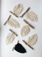 Kleine Makramee Wandbehänge sind speziell für di…