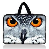 Owl Face Laptop Bag Sleeve Notebook Case Cover Pou…