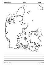 Kort Over Danmark I Sort Hvid Danmark Kort