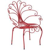 peacock metal chair metal chairs
