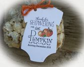 Fall baby shower favor   PUMPKIN Baby Shower Favor   Tags ONLY or kits with Bags & Twine   lil PUMPKIN Baby shower Favors   Little Pumpkin – Baby Shower/Baby Gifts