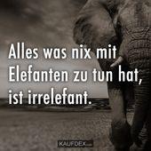 Alles, was nichts mit Elefanten zu tun hat, ist …   – Funny