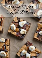 Bacon Kissed Sinful S'Mores July 4th recipe