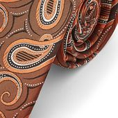 Autumn Bronze Toned Paisley Tie | In stock! | Tailor Toki