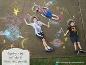22 Totally Awesome Sidewalk Chalk Ideas – Out of this World Adventure – #Adventu…   – Sidewalk chalk art