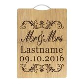 Engraved Wedding Cutting Boards Mr And Mrs Name Date