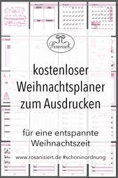 Der Rosanisiert-Weihnachtplaner – kostenloses Printable
