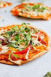 Vegan Tortilla Pizzas
