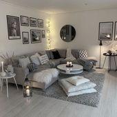 60+ graue, kleine Wohnzimmerapartments, die fantastisch aussehen …   – Wohnzimmer ♡ Wohnklamotte