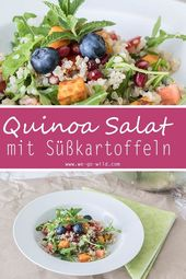 Sweet potato salad with quinoa – #potato #quinoa #salat – # Alaina'sQuinoa-Sa …