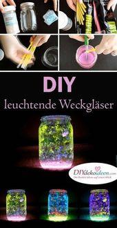 Mit diesem Trick erleuchtet deine DIY Windlicht-Deko aus Weckgläser!