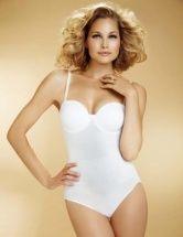 2488bdf07 Womens Body Wrap Shapewear White Strapless Pin Up Moulded Cups Bodysuit  49400