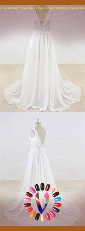 bröllopsklänning empire midja bröllopsklänning empire #weddingdress Ärmlös sweethea …