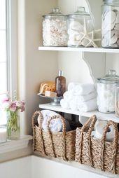 Diese Regale für DIY-Badezimmerwäsche sind praktisch und sehr attraktiv. (Und wir …) – DIY und Selber Machen Deko