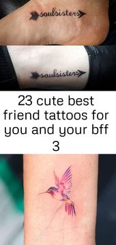 23 cute best friend tattoos for you and your bff 3