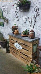 Garden pallet shelves  – Dekoration