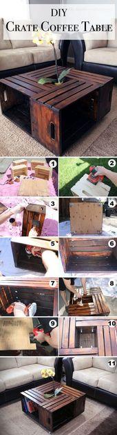 15 Creative DIY Coffee Table Ideas You Can Build Y…