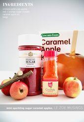 Mini Sparkly Sugar Caramel Apples   – Caramel Apples