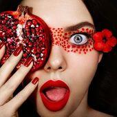 Frisches Obst Make-up müssen Sie versuchen, wenn Sie Bilder aufnehmen
