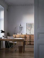 Illustrator Workspace ATELIER RUE VERTE , le blog: A Stockholm, l'appartement d'un illustrateu...