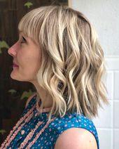 10 Trendy Choppy Lob Haarschnitte für Frauen Best Medium Frisuren