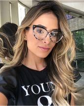 Peekaboo retro cat eye glasses frames for women 2019 transparent optical eyeglas… – Hot Selling Eyewear