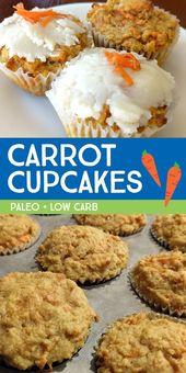 Délicieuse recette de cupcake / muffin aux carottes sans céréales, adaptée aux enfants! Ces bas carb, ke …