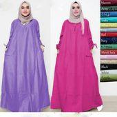 Baju Gamis Jumbo Lazada Pakaian Wanita Baju Muslim Wanita