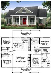 Traditional Style House Plan 59952 with 3 Bed, 3 Bath