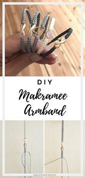 DIY Makramee Armband knüpfen