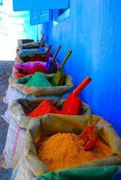 evasion lintrieur bain colore maghreb ethnique en ciel poudre de colorant march maroc voyage maroc - Colorant Bain