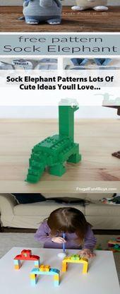 Socken-Elefant kopiert viele nette Ideen, die Sie lieben   – Toy