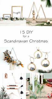 unglaublich 15 Basteln Sie eine skandinavische Wei…