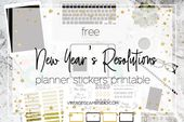 New Year's Resolutions Planning Stickers – Vintage Glam Studio