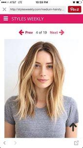 lange Haarmodelle Schöne Frisuren für langes dünnes Haar mit Fransen #longbob …   – Bunte Haar