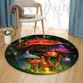 Enchanted Evening Mushroom VD2410146RR Round Carpet