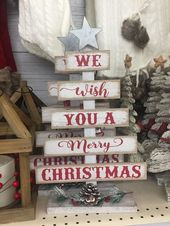 Inexpensive Rustic Christmas Decorations – Pallet Christmas Trees