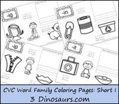 New CVC Word Family Coloring Pages: Short I Vowel – ALCA Themes