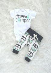 Happy camper/boys Volkswagen outfit/organic cotton/baby boy
