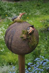 """Spaziergang durch den """"Keramikgarten"""" – Töpferei – #den #by #quotKerami …   – Top Kreative Hobby-Ideen"""