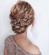 Bridal Hair Vine Gold Hochzeit Haarteil Hochzeit Haarteil Brauthaarteil Brauthaarzubehör