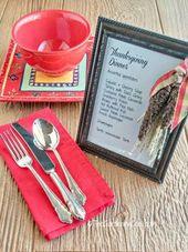 Lassen Sie Ihren Thanksgiving-Gast wissen, was auf der Speisekarte mit diesem gerahmten …   – 0003