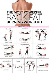 Most Powerful Back Fat Burning Workout! When You See The Results, You'll Be AMAZED.  – full body workout gym
